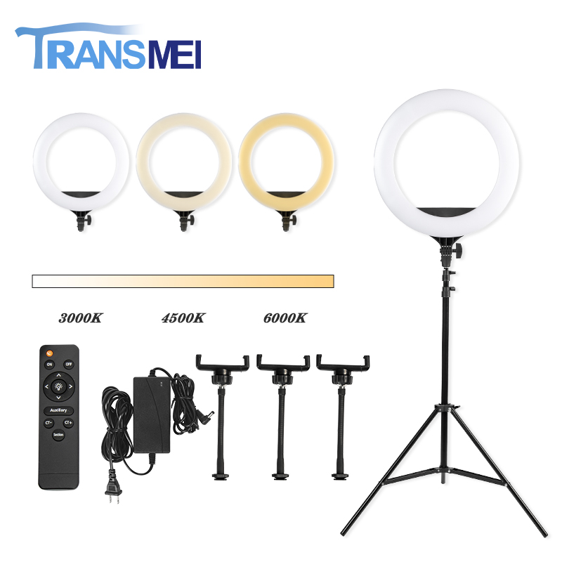 "18"" Selfie Ring Light with 1.8M Adjustable Tripod For Phone TM-18A20A"
