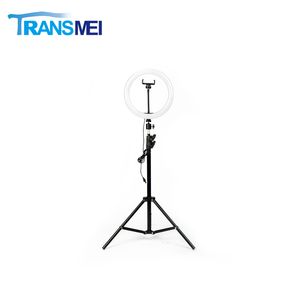 "10"" RGB Ring Light with 1.6M Adjustable Tripod For Phone TM-260R"